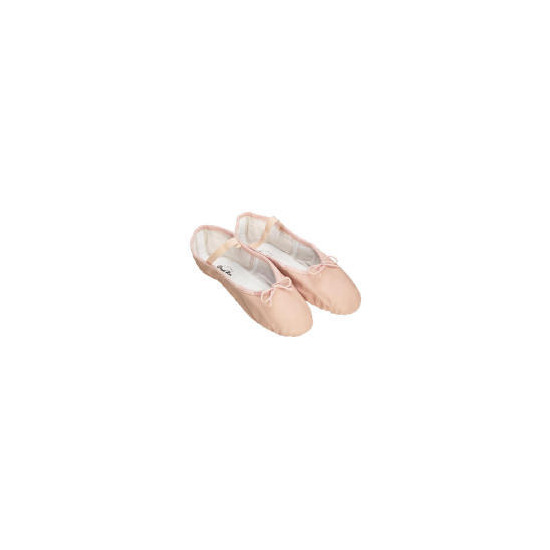 Dance Now Pink Full Sole Leather Ballet Slipper 5