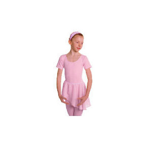 Photo of Dance Now Pink Short Sleeve Cotton Lycra Leotard 4-6 Years Sports and Health Equipment