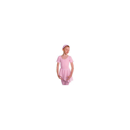 Dance Now Pink Short Sleeve Cotton Lycra Leotard 4-6 years