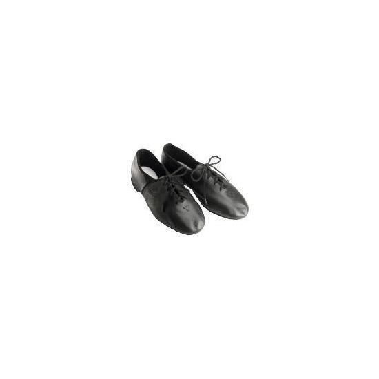 Dance Now Black Full Sole Leather Jazz Shoe  2