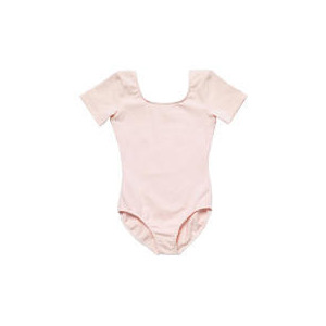 Photo of Dance Now Pink Short Sleeve Cotton Lycra Leotard 8-10 Years Sports and Health Equipment