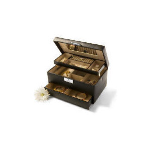 Photo of Black Leather Effect Jewellery Box Home Miscellaneou