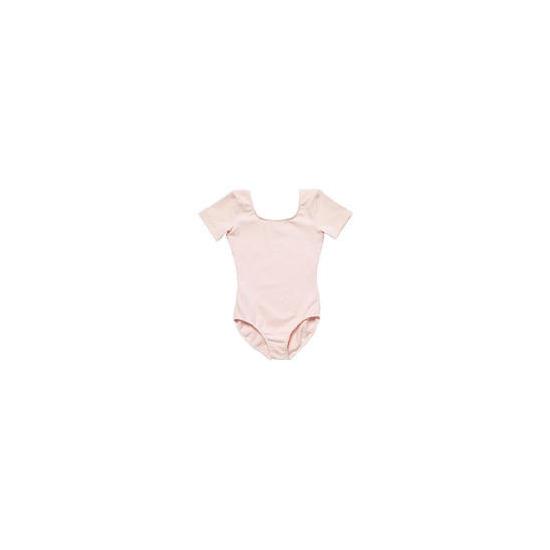 Dance Now Pink Short Sleeve Cotton Lycra Leotard 6-8 years