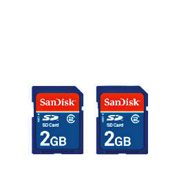 Sandisk 2GB SD card twin pack Reviews