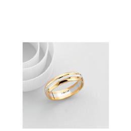 9ct Two Tone Gold Gents Wedding Ring S Reviews