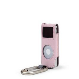Leather Case/ Carabiner for iPod Nano