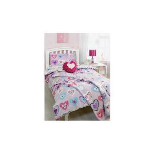 Photo of Bedcrest Printed Girls Heart Duvet Set  Single Bed Linen