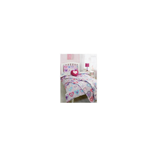 Bedcrest Printed Girls Heart Duvet Set  Single