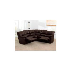 Photo of Harlowe Leather Corner Sofa, Brown Furniture