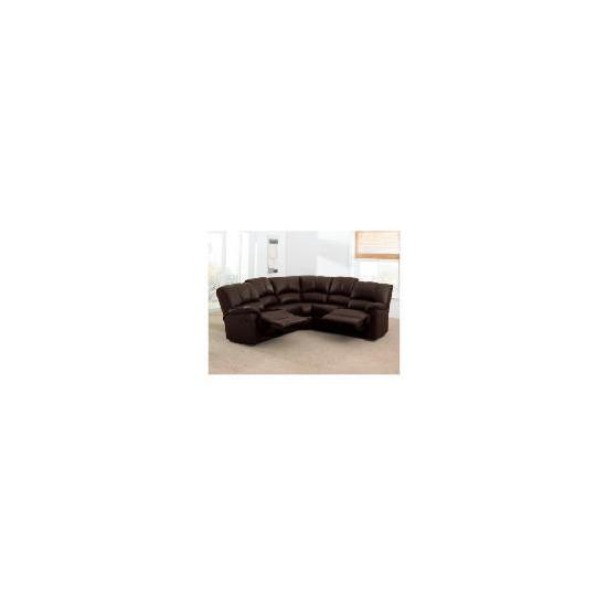 Harlowe Leather Corner Sofa, Brown