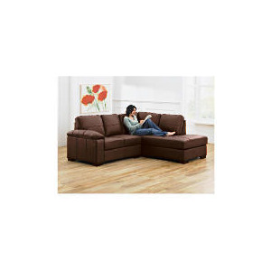 Photo of Ashmore Right Hand Facing Leather Corner Sofa, Brown Furniture