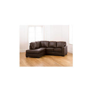 Photo of Ohio Left Hand Facing Leather Corner Sofa, Chocolate Furniture