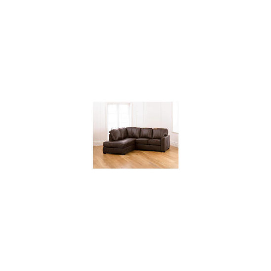 Ohio left hand facing Leather Corner Sofa, Chocolate