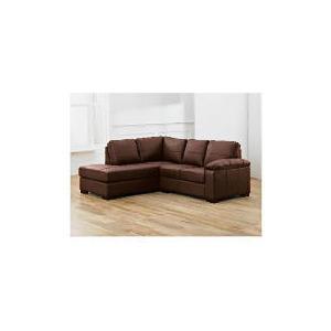 Photo of Ashmore Left Hand Facing Leather Corner Sofa, Brown Furniture