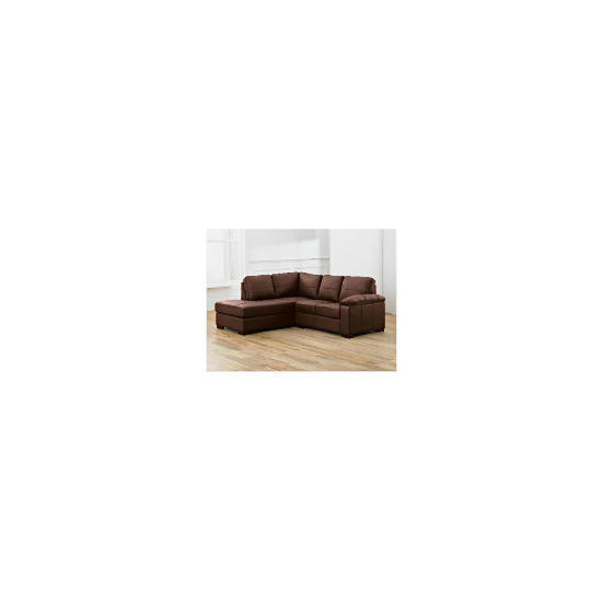 Ashmore left hand facing Leather Corner Sofa, Brown