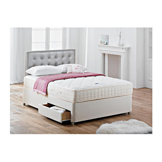 Rest Assured Harrogate 1000 Pocket Latex 4Ft 6inch 2 Drawer Divan set