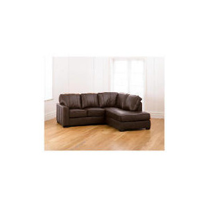 Photo of Ohio Right Hand Facing Leather Corner Sofa, Chocolate Furniture