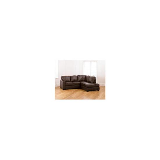 Ohio right hand facing Leather Corner Sofa, Chocolate