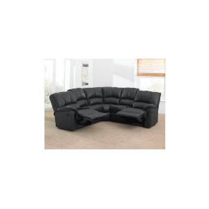 Photo of Harlowe Leather Corner Sofa, Black Furniture