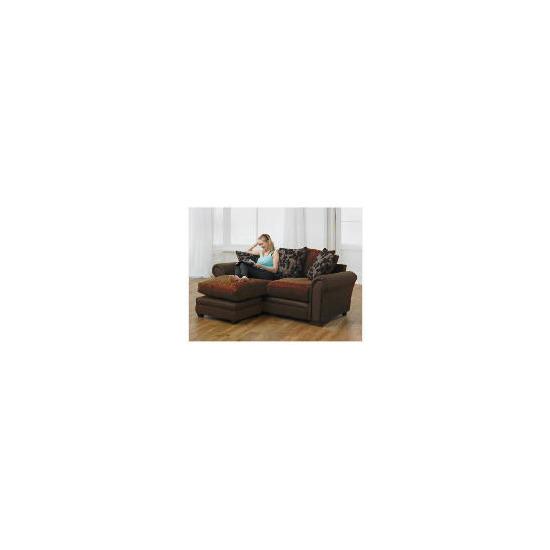 Virginia right hand facing Corner Chaise Sofa, Chocolate