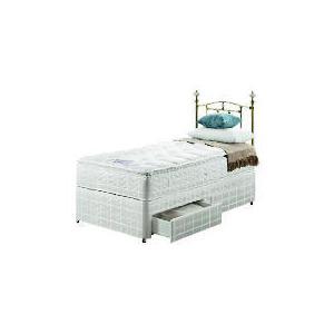 Photo of Silentnight Miracoil 3-Zone Pillowtop Alaska Single  2 DRW Divan Set Bedding