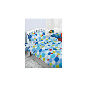 Photo of Bedcrest Printed Boys Spot Duvet Set Single Bed Linen