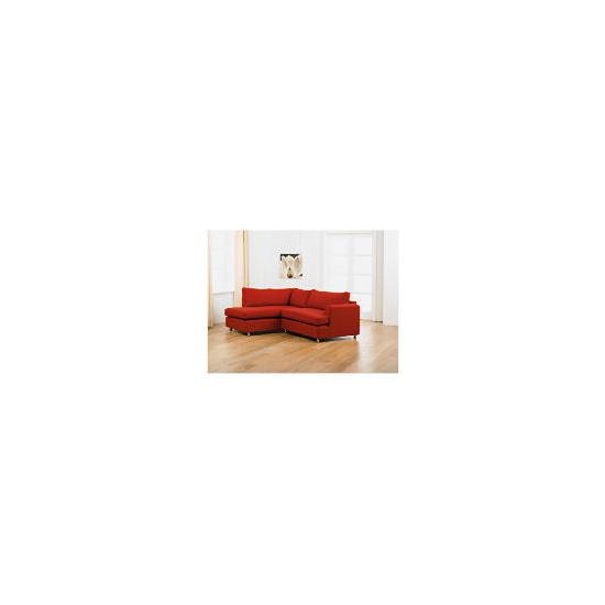 Loft left hand facing Corner Chaise Sofa, Red