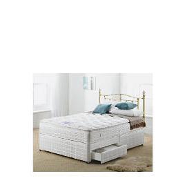 Silentnight Miracoil 3-Zone Pillowtop Alaska 4Ft 6inch 2 Drw Divan set Reviews