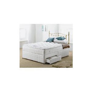 Photo of Silentnight Miracoil 3-Zone Pillowtop Alaska 4FT 6INCH 2 DRW Divan Set Bedding