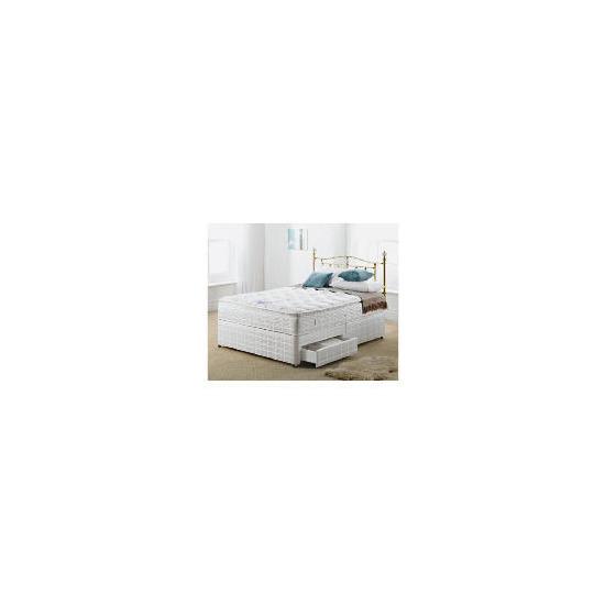 Silentnight Miracoil 3-Zone Pillowtop Alaska 4Ft 6inch 2 Drw Divan set