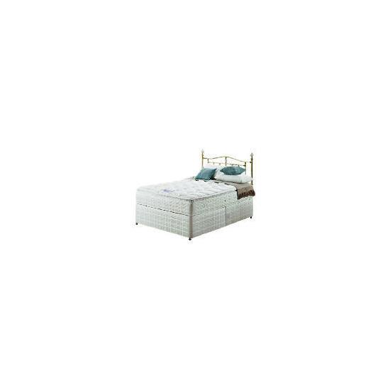 Silentnight Miracoil 3-Zone Pillowtop Alaska 4Ft 6inch Divan set