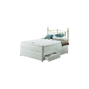 Photo of Silentnight Miracoil 3-Zone Pillowtop Alaska King  2 DRW Divan Set Bedding