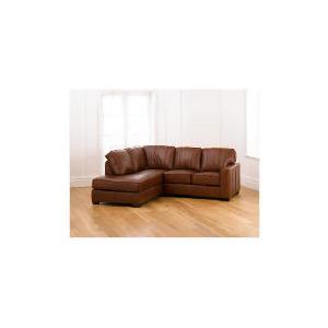 Photo of Ohio Left Hand Facing Leather Corner Sofa, Cognac Furniture
