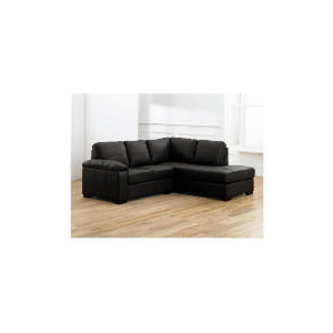 Photo of Ashmore Right Hand Facing Leather Corner Sofa, Black Furniture