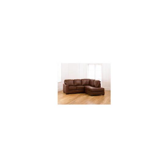 Ohio right hand facing Leather Corner Sofa, Cognac