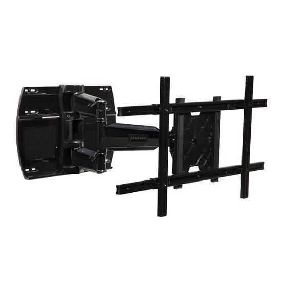 "Peerless SmartMount SWS450-BK Large Universal Articulated LCD / Plasma Wall Bracket - Max Weight 68kg, 37"" to 63"", Black"