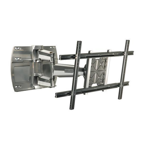 "Peerless SmartMount SWS450-SI Large Universal Articulated LCD / Plasma Wall Bracket - Max Weight 68kg, 37"" to 63"", Silver"