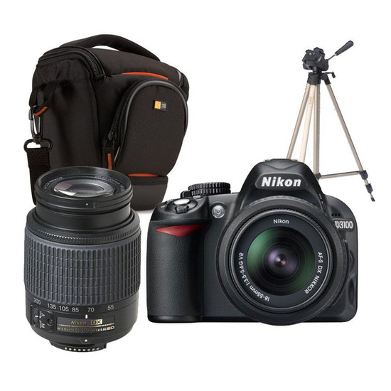 Nikon D3100 with 18-55mm and 55-200mm Lens kit