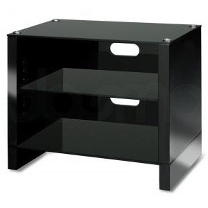 Photo of Abavos Stax 3 Shelf Black TV Stand TV Stands and Mount
