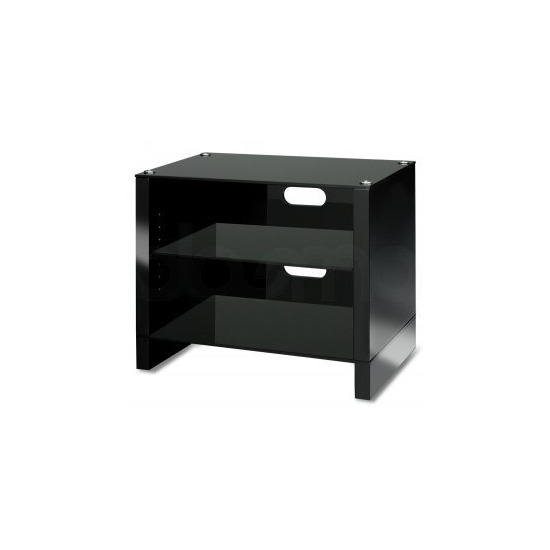 Abavos Stax 3 Shelf Black Tv Stand
