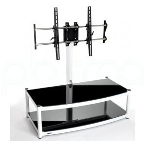 Photo of Atacama Cantilever 2 Shelf TV Stand - White and Black TV Stands and Mount