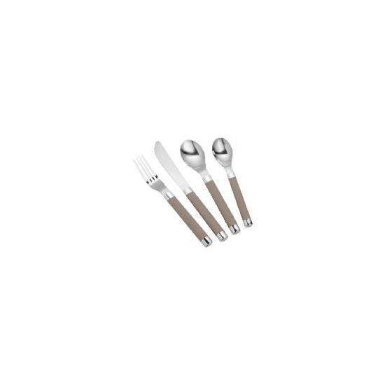 Tesco soft touch cutlery set 16 pieces - cream
