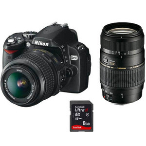 Photo of Nikon D60 With 18-55MM VR and Tamron 70-300MM F4-5.6 DI Lenses Digital Camera