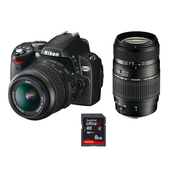 Nikon D60 with 18-55mm VR and Tamron 70-300mm f4-5.6 DI lenses