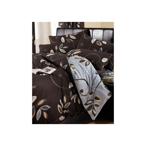 Photo of Antigua Chocolate Quilt Cover Set King Size Bed Linen