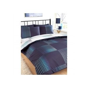 Photo of Dash Navy Quilt Cover Set Double Bed Linen