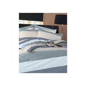 Photo of Frazer Duck Egg Quilt Cover Set Single Bed Linen