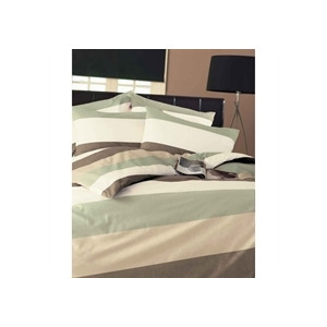 Photo of Frazer Green Quilt Cover Set Single Bed Linen