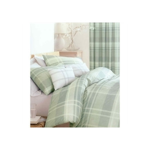 Photo of Glencoe Green Quilt Cover Set Double Bed Linen