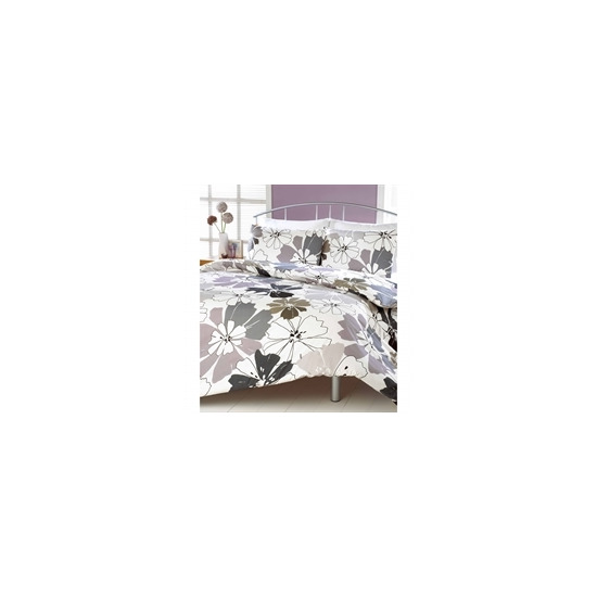 Rania Grey Quilt Cover Set Double